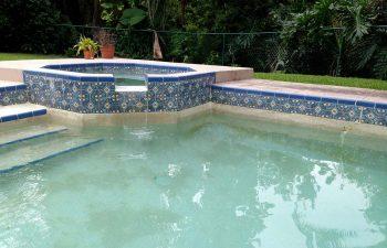 backyard swimming pool after renovation