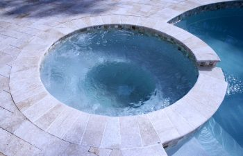 renovated outdoor jacuzzi with clear water