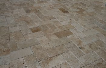 interlocking brick paver patio