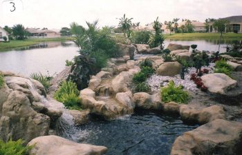 garden hardscapes and waterfalls