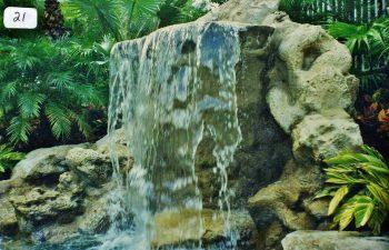 garden hardscape waterfall