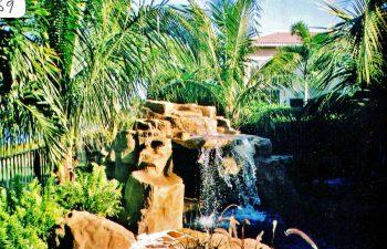 backyard hardscape waterfall