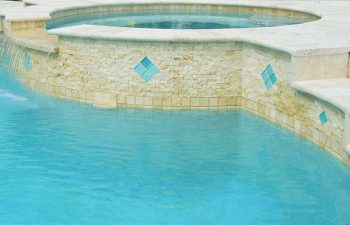 spa pools with decorative tiles
