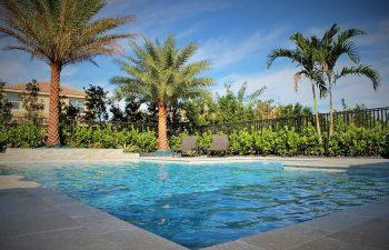 modern backyard swimming pool