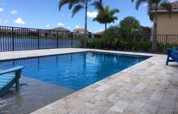 beach entry backyard swimming pool