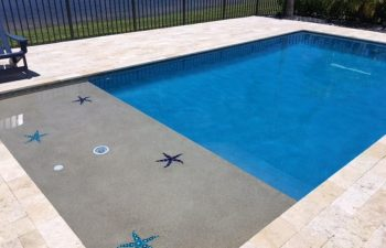beach entry backyard swimming pool