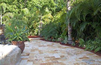 backyard Travertine patio