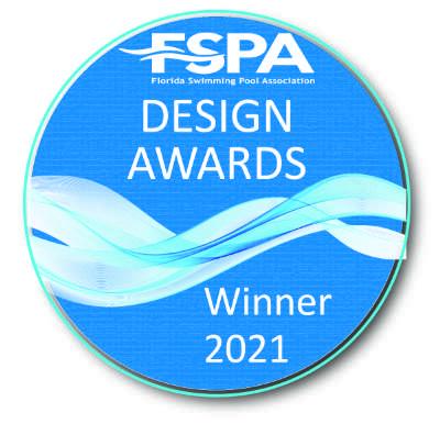 Florida Swimming Pool Association Design Awards Winner Badge 2021